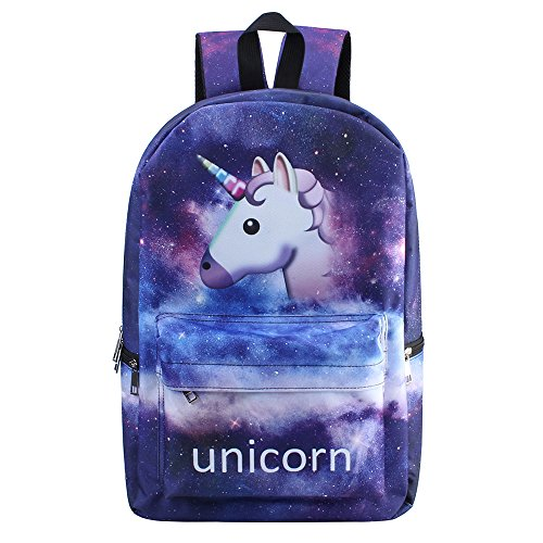 Discount Bonamana Pink Unicorn Rainbow Bag Fantasy Backpack Rucksack School Student Travel Bags hot sale