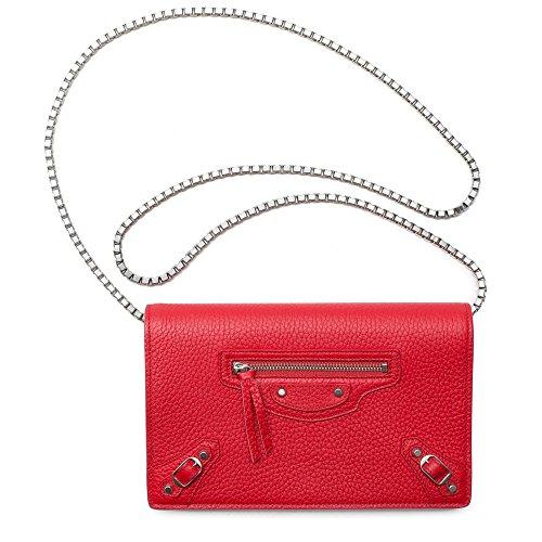 Balenciaga Arena Wallet On Chain Red Shoulder Leather Bag Handbag Motorcycle New