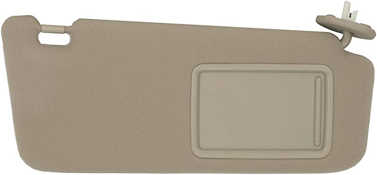 SAILEAD Sun Visor for 2009 2010 2011 2012 2013 2014 2015 2016 Toyota Venza with Sunroof and Light Beige, Right Side