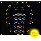 IllumiPeg Lite-Brite Ultimate Classic Refills (7 x 8) - Lion Tiger Animal Zoo Templates - Incompatible with Old Vintage Light Bright Toys   10 Pack