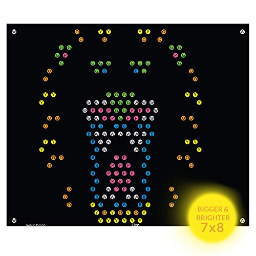 (IllumiPeg Lite-Brite Ultimate Classic Refills (7 x 8) - Lion Tiger Animal Zoo Templates - Incompatible with Old Vintage Light Bright Toys | 10)