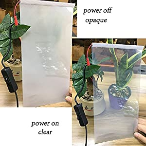 "HOHO 8""x12"" A4 Size Sample Smart Film Smart PDLC Film Tint Touch Electric Switchable Film Smart Glass(White)"