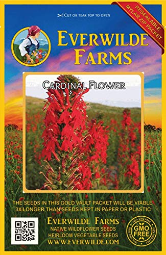 Everwilde Farms - 2000 Cardinal Flower Native Wildflower Seeds - Gold Vault Jumbo Seed ()