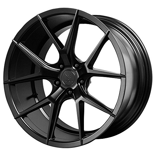 Verde Custom Wheels Axis Satin Black Wheel with Painted Finish (19 x 8.5 inches /5 x 115 mm, 32 mm Offset)
