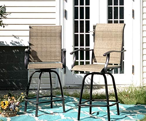 Sophia William Outdoor Swivel Bar Stool Set of 2 Patio Bar Chair Breathable Textilene - the best outdoor bar stool for the money