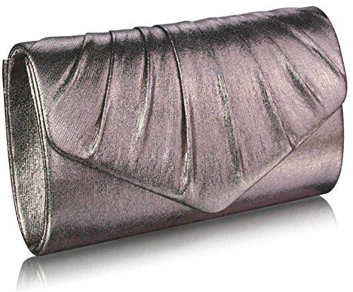 Sacs Embrayage Envelop LeahWard® Élégance rabat Main Metallic Mariée L Gray 282 À Sac Style Élégance Sacs 68 Main Portefeuille 5xIYrxw