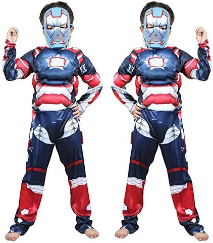Disfraces de Halloween ,S, geek blue Iron Man: Amazon.es: Hogar