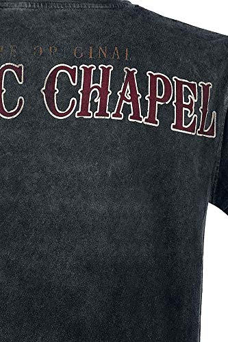 Antracite West Antracita Chapel Black Vintage Camiseta The Choppers Coast qqYwUO
