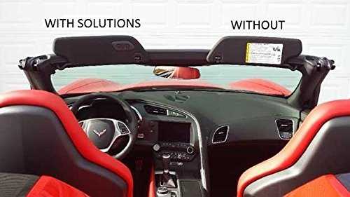 The Original SunVisor Solutions for 2014-2017 Corvette Z06 Cover Overlays - OEM Fabric (Pair) BP&B Industries Incorporated