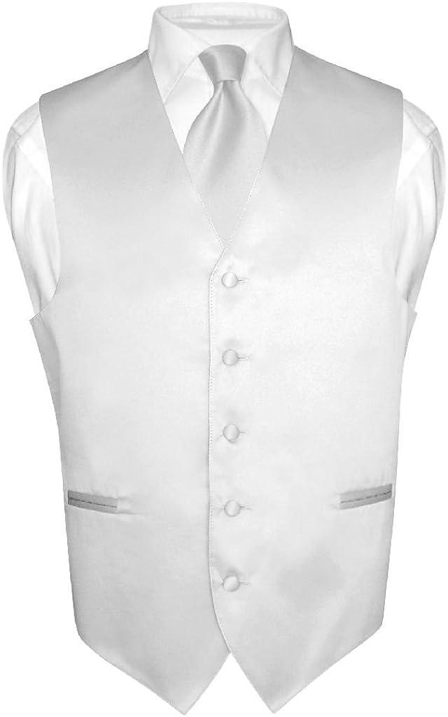 BOY/'S Dress Vest /& NeckTie Solid BLACK Color Neck Tie Set for Suit or Tuxedo