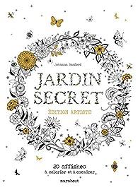 jardin secret edition artiste 20 affiches colorier et encadrer babelio. Black Bedroom Furniture Sets. Home Design Ideas