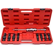 Blind Hole 10pc Slide Hammer Pilot Bearing Puller Internal Extractor Removal Kit 10pc Blind Hole Slide Hammer Pilot Bearing Internal External Remover Puller Set