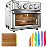 Cheap Cuisinart Convection Toaster Oven Air Fryer with Light, Silver (TOA-60) with Cuisinart Advantage 12-Piece Knife Set & Home Basics Two Tone Bamboo Cutting Board