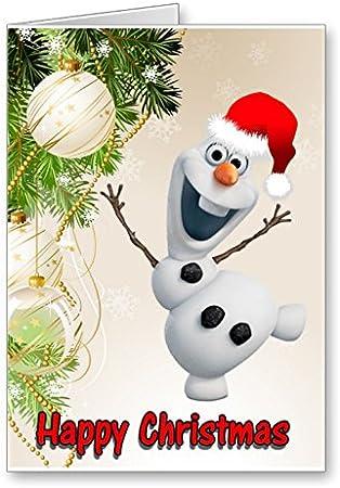 Carte de vœux de Noël Motif La Reine des neiges olaf: Amazon.fr