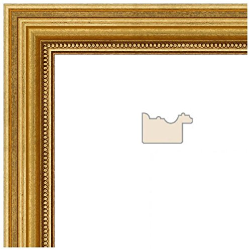 2WOM0066-81375-YGLD-24x29 ArtToFrames 24x29 inch Gold Foil on Pine Wood Picture Frame