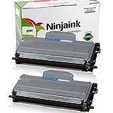 #4: Ninjaink Compatible Toner Cartridge ForBrother TN360 TN330 HL-2140 HL-2170W MFC-7340 MFC-7840W DCP-7040 MFC-7345N DCP-7030 DCP-7045N HL-2120 HL-2150 HL-2150N- High Yield 2-Pack