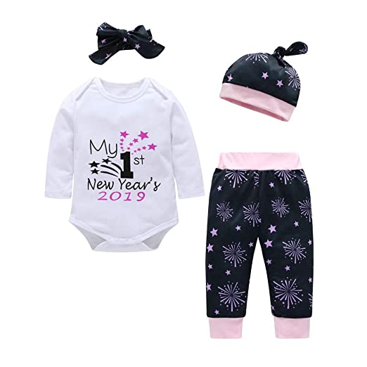 e88404f39b4a Amazon.com  Newborn Infant Baby Boys Girls 3-24 Months Letter Romper ...