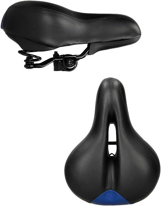 Selle de vélo confortable siège de Ø 27 mm en gel 27 x 20 x 13 cm montagne