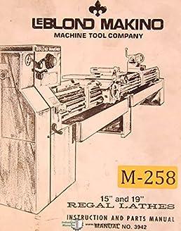 leblond makino 15 19 lathes 3942 instructions and parts manual rh amazon com manual makino a61 makino manuals