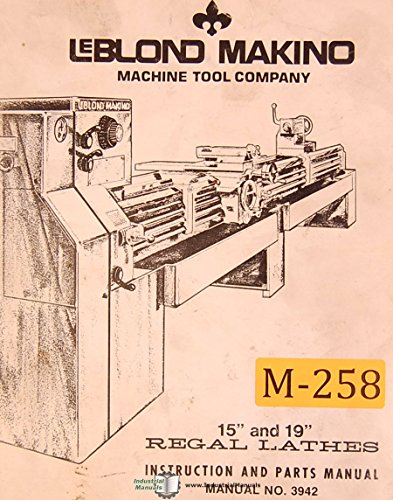 leblond makino the best amazon price in es leblond makino 15 19 lathes 3942 instructions and parts manual