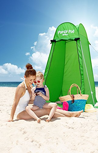 GigaTent-Pop-Up-Pod-Changing-Room-Privacy-Tent--Instant-Portable-Outdoor-Shower-Tent-Camp-Toilet-Rain-Shelter-for-Camping-Beach--Lightweight-Sturdy-Easy-Set-Up-Foldable-with-Carry-Bag-3