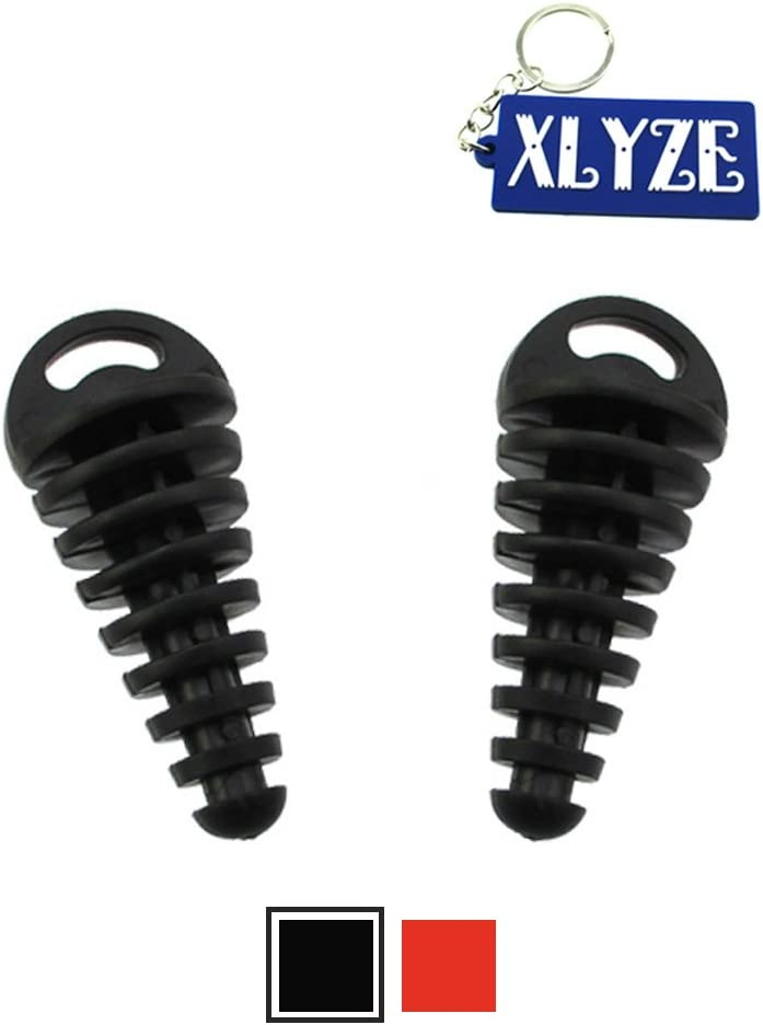 XLYZE Black Muffler Exhaust Pipe Silencer Wash Plug 2pcs for 2-Stroke ATV Quad Pit Dirt Bike Scooter Motorcycle