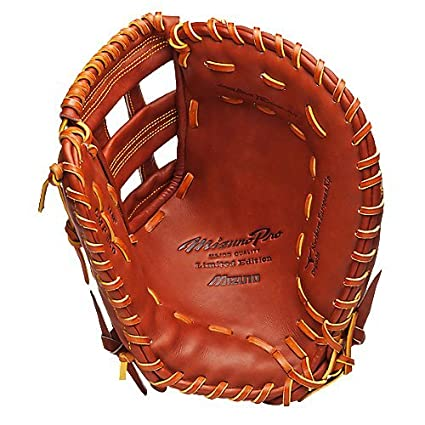 Mizuno GMP300 Pro Baseball First Base Mitt (Chestnut, 13.00-Inch, Right Handed Throw)