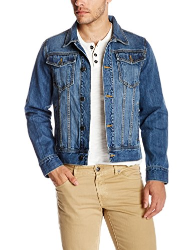 Quality Durables Co. Men's Regular-Fit Jean Jacket M Dark Stone Wash (Stonewash Jean Jacket Men)