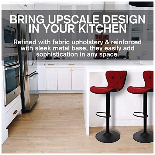 Kitchen Halter Barstool, Adjustable Height Stool Chairs, Counter Height Swivel Bar Stools for Kitchen Island, Bar Chair, Counter… modern barstools