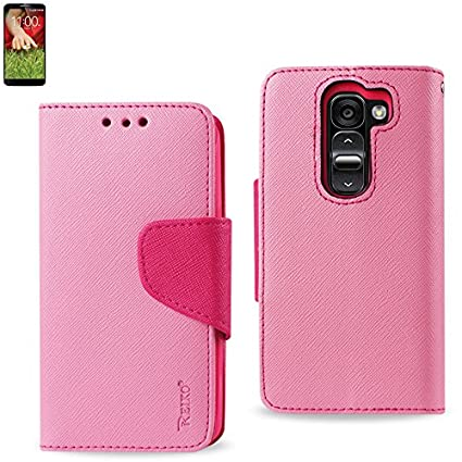 the best attitude 4a187 07219 Reiko WALLET CASE 3 IN 1 FOR LG G2 MINI D620 WITH INTERIOR LEATHER-LIKE  MATERIAL AND POLYMER COVER - Retail Packaging - Pink