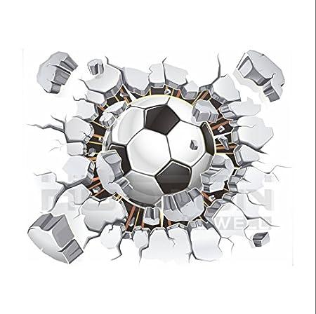 Aution House Pegatina de Pared Vinilo Adhesivo Fútbol Pelota Balón ...