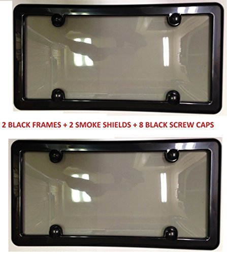 UNBREAKABLE TINTED LICENSE SHIELD FRAMES