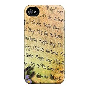 Flexible Tpu Back Case Cover For Iphone 4/4s - Autmn Day Magic