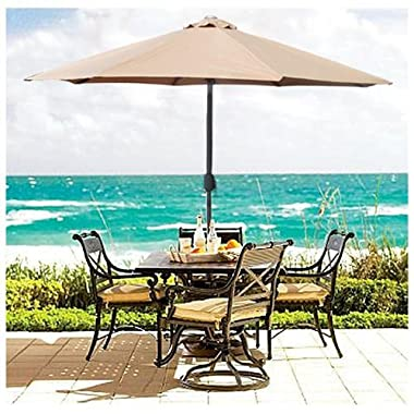 Best Choice Products® Patio Umbrella 9' Aluminum Patio Market Umbrella Tilt W/ Crank Outdoor