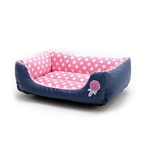 Cama de mascotas rectangular, extra suave, de felpa, lavable a máquina, para
