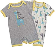 Fisher-Price Baby-Girls 2pk Rompers Jumpsuits & Rom
