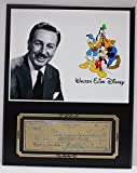 WALT DISNEY MICKEY MOUSE REPRODUCTION SIGNED LIMITED EDITION CHECK DISPLAY