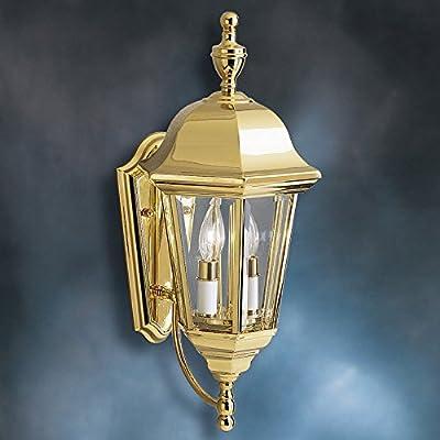KICHLER Grove Mill 9439PB Outdoor Wall Lantern - 9.5 in. - Polished Brass