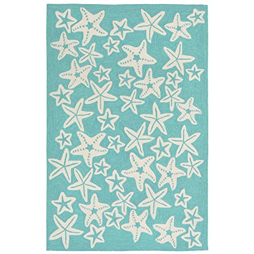 Liora Manne Monaco Sea Star Rug, Aqua, Indoor/Outdoor, 24
