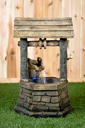 Hi-Line Gift Ltd Fountain- Wishing Well with Pouring Bucket & LED Light by Hi-Line Gift Ltd. (Image #8)