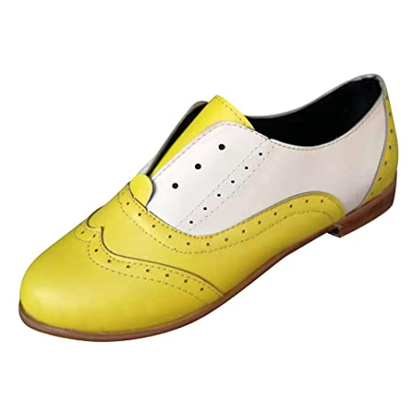 LILICAT❋ Tacones Redondos con tacón bajo y Costura en Cuero Zapatos de Mujer Botines Planos