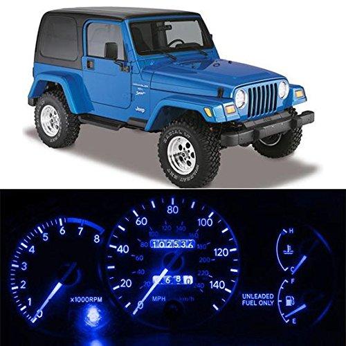 Partsam Jeep Wrangler YJ Instrument Panel LED Light Kit