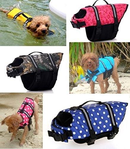 Billionaire Asia New Item Pet Safety Vest Dog Cat Life Jacket Preserver Puppy Large Swimming Jacket Gift (XXS, Yellow)