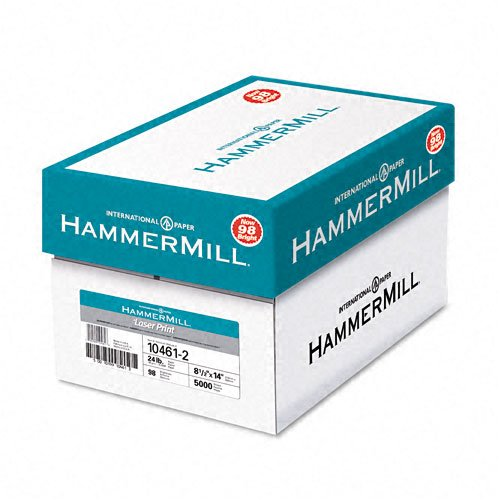 Hammermill : Laser Print Copy/Laser Paper, White, 98 Brightness, 24lb, Legal, 500 Sheets -:- Sold as 2 Packs of - 500 - / - Total of 1000 Each