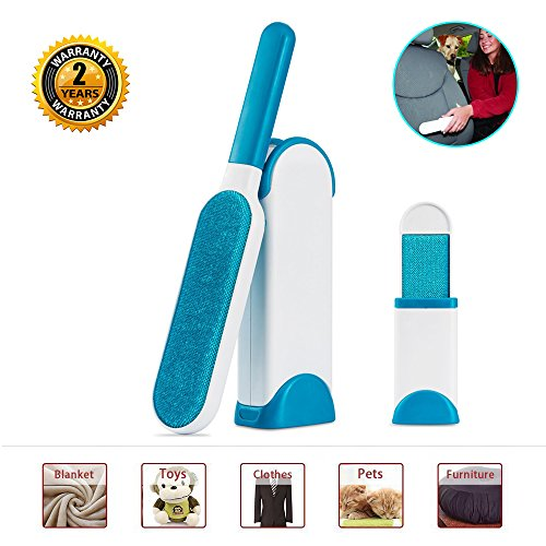Seen Tv Dryer Lint Removal Kit (Pet Fur Remover - Lint&hair Removal Brush with Self-cleaning Base,Double-sided ,Removes from Clothes and Furniture)