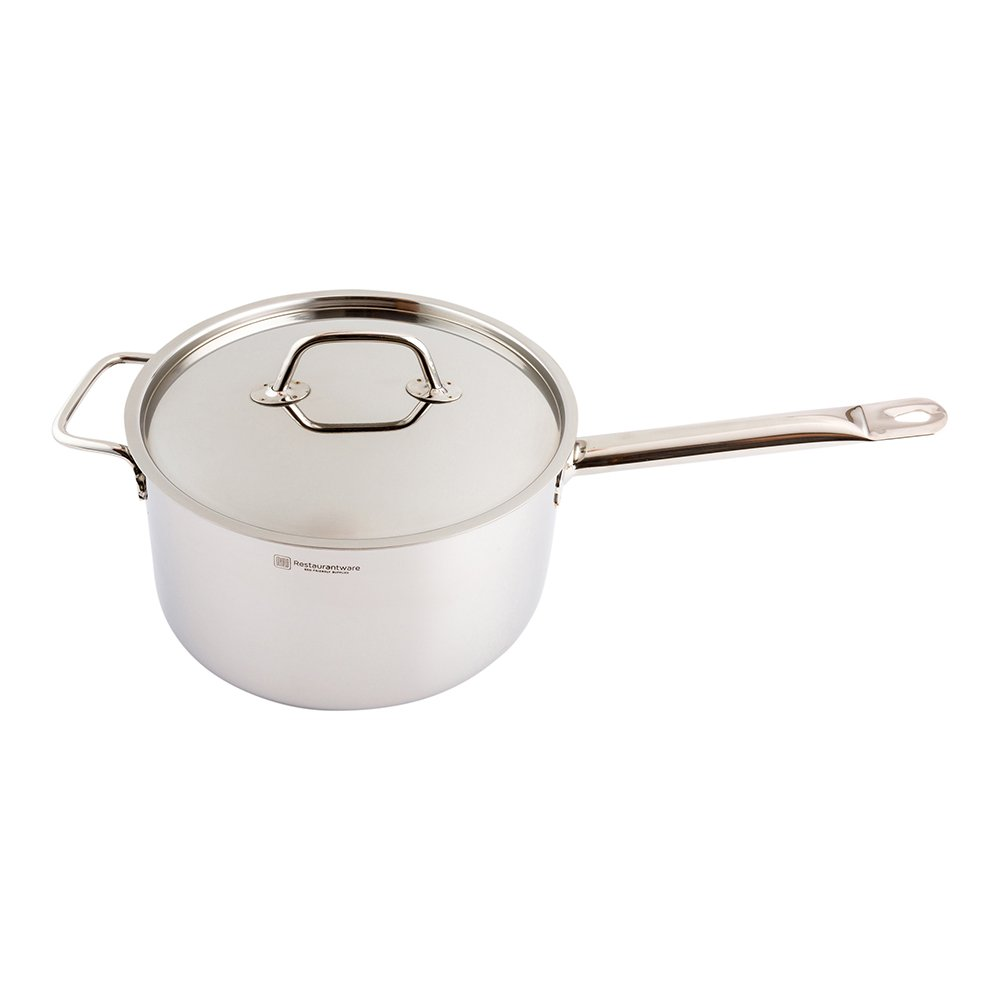 Stainless Steel Sauce Pan Lid, Fits Restaurantware 6-QT Sauce Pan - 1ct Box - Restaurantware
