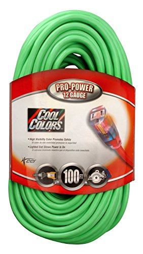 Coleman Cable Systems 02579-0X 100-Foot 12/3 Neon Outdoor...