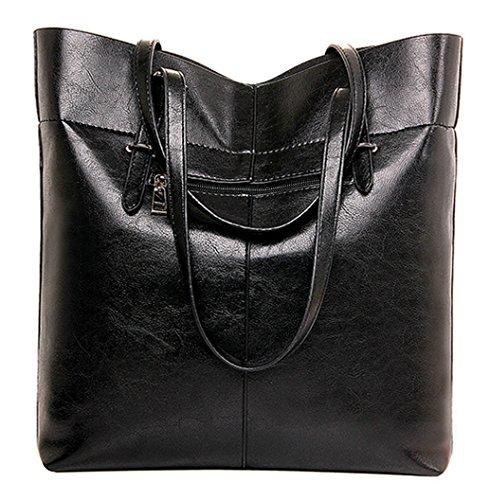 Tibes hochwertige PU Klassisch Handtasche Einfache Tragetasche für Damen Hellbraun Hellbraun NZMJO