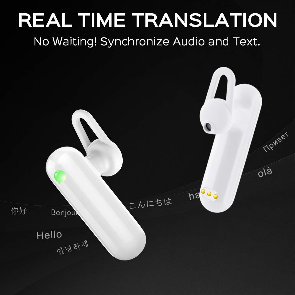 Language Translator Device - Supports 36 Languages & 84 Accents, Voice Translator Earbuds, Wireless Bluetooth Translator with APP, Real Time Translation, Suitable for iOS & Android with Charging Case by WT2 (Image #3)
