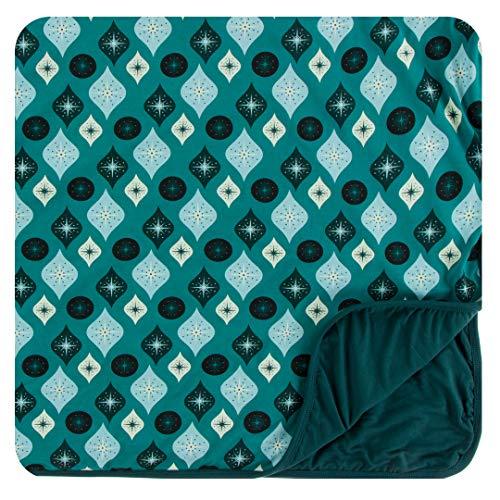Kickee Pants Print Toddler Blanket - Cedar Vintage Ornaments (Crib Cedar)
